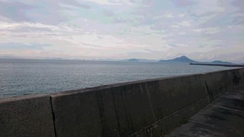 工場からの瀬戸内海の眺め